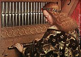 Jan van Eyck The Ghent Altarpiece Angels Playing Music [detail 1] painting